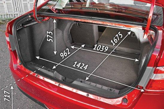 Размеры багажника Весты