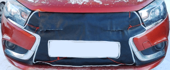 Крепление фартука радиатора на хомутики