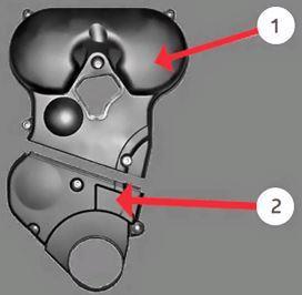 Верхняя и нижняя крышки привода ГРМ Лады Весты