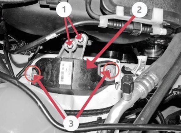 Крепление правой опоры двигателя Весты