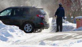 как мыть машину зимой