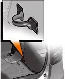 Скобы для крепления сетки в багажнике