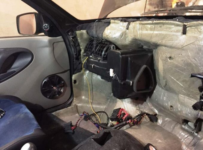 проверка печки лады гранты в автосалоне у дилера