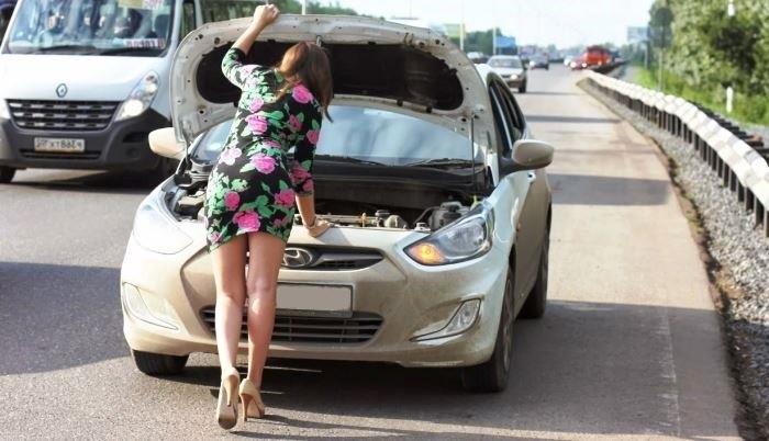 машина сломалась на трассе