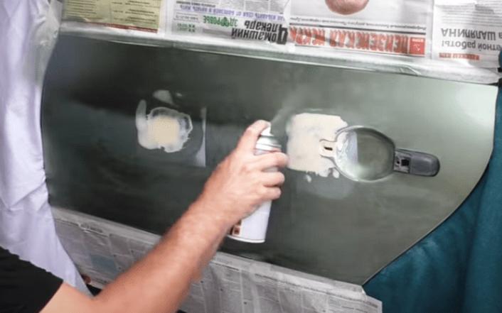 как покрасить ржавчину баллончиком