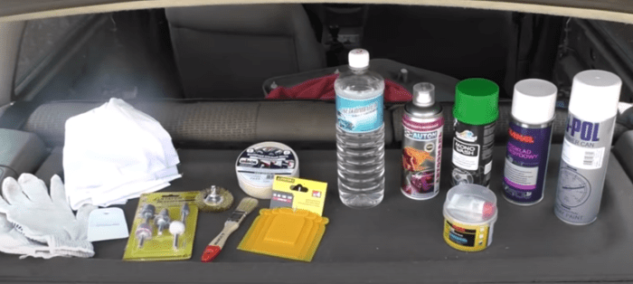 материалы и инструмент для покраски